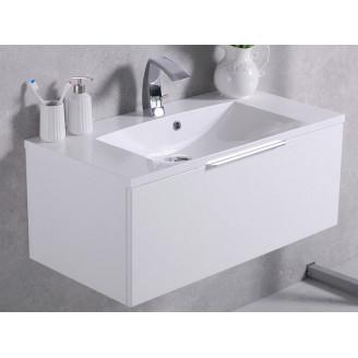Шкафчик навесной с раковиной Bermuda 1 Белый Fancy Marble