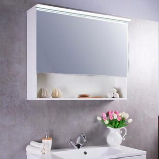 Зеркальный шкафчик MC-Okinava 70 белый Fancy Marble