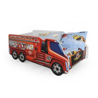 Кровать-машинка с матрасом Fire Truck Halmar