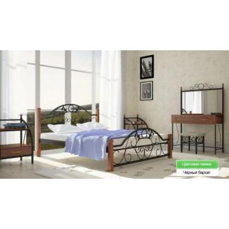 Металлическая кровать Франческа на деревянных ножках Металл-дизайн