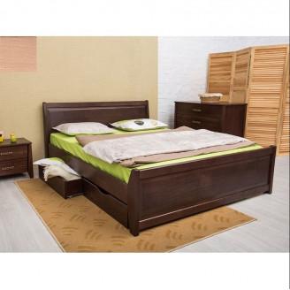 Кровать Олимп Сити с ящиками с филенкой Бук 180 х 190  У-1