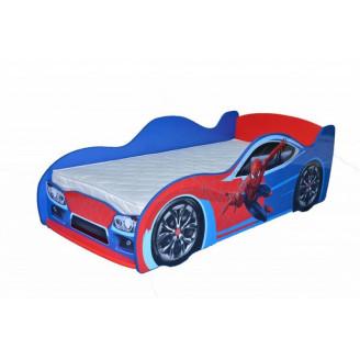 Кровать-машинка Спайдермен 80*170 MebelKon